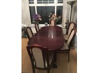 Large dining table & 6 chairs - cheap