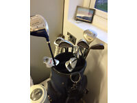 PRICE REDUCED - Nice set of 13 golf clubs - ideal for beginner. Inc golf bag. Only £10!