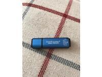2GB encrypted USB drive