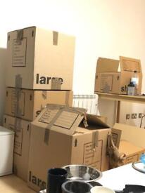 Cardboard boxes packing house removals