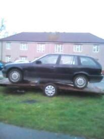Bmw 320i estste drift car and trailer with ramps