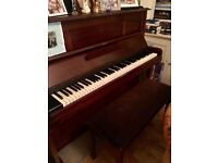 Upright piano and storage stool for sale - buyer to collect