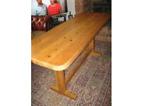 Chunky, Solid Pine Kitchen / Dining Table 5ft x 2ft