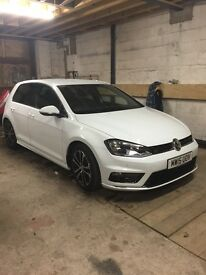 Vw golf tdi rline 2015 immaculate condition good tyres full Volkswagen service history sat nav