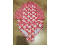 Girls Two Piece Swimming Costume Size 12-18 Months
