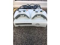 FOR SALE - XBOX 360 WITH 2 CONTROLLERS
