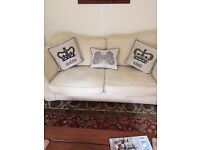 3 Seater Cream Sofa and Arm chair GREAT CONDITION