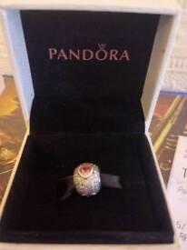 Pandora Pink CZ heart Charms
