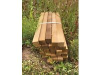 44 treated timber stakes 600 x 50 x 50 mm