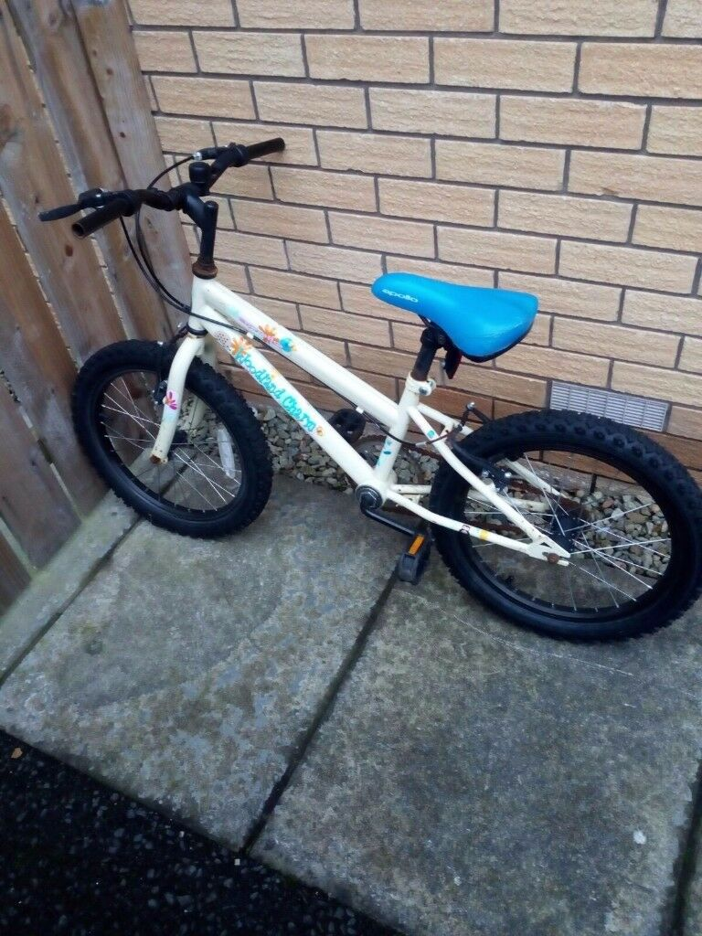 Kids bike suitable for 6+. Halfords woodland charm. Well loved sturdy bike