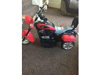 6v Harley style bike x2