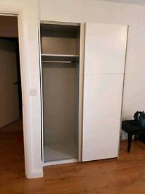 Brand new White large sliding 2 door wardrobe you will have to dismantle