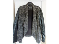 New look leather & material jacket (size 10)
