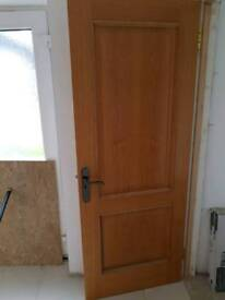 Solid hard wood doors, various sizes