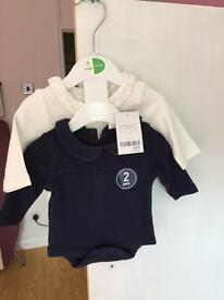 Next baby girls vests brand new with tags on