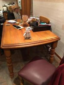 Solid table and 4 chairs
