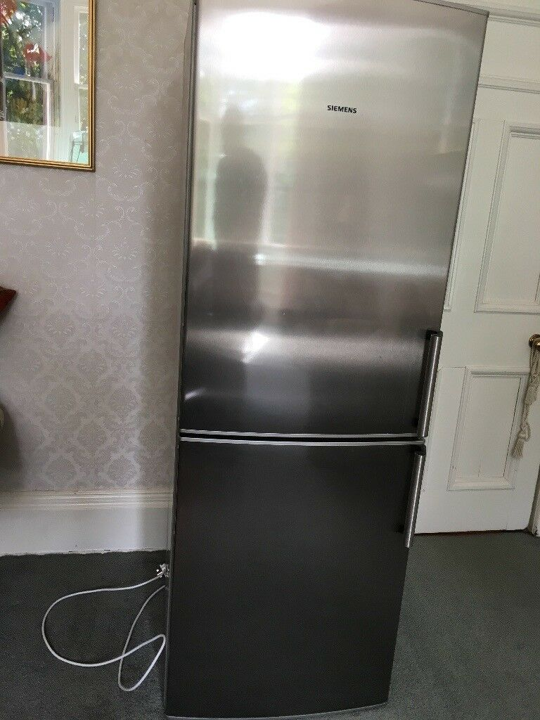 Stainless Steel Upright Stand Alone Fridge Freezer Siemens Model No Kg33nx74gb A Energy Rated