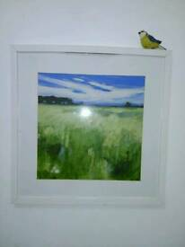 Landscape painting with frame