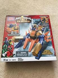 Power rangers super samurai mega blocks -gold ranger set- brand new in box