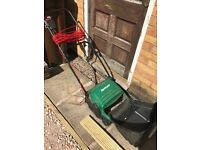 Qualcast Electric Lawn Rake for sale. Good working order.