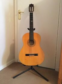 Hohner classical guitar with stand