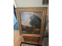Very old oil on canvas painting