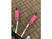 Pink 3 wheeled scooter