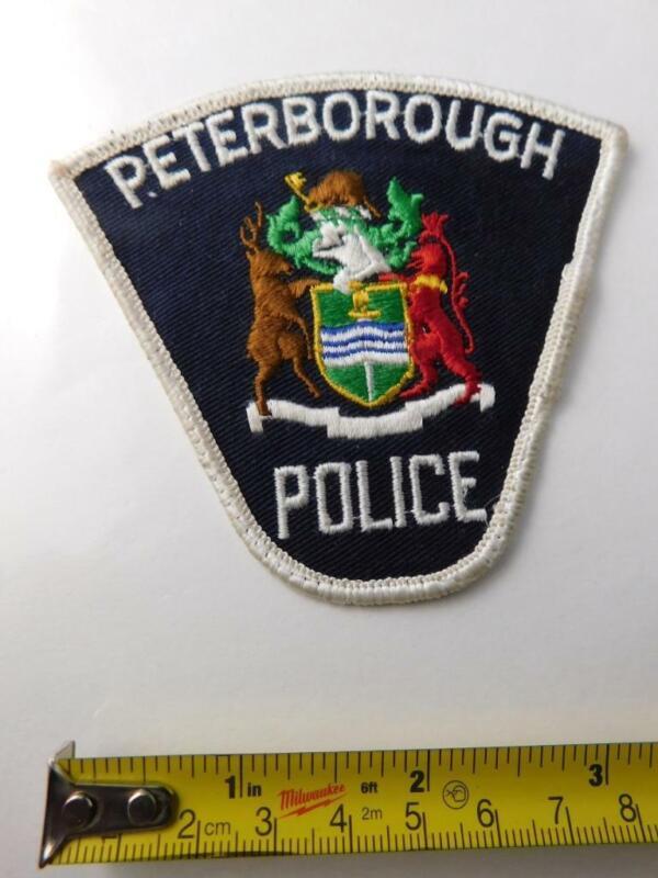 PETERBOROUGH POLICE VINTAGE PATCH BADGE ONTARIO CITY CANADA COLLECTOR