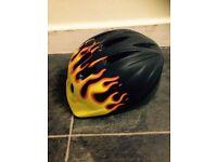 Flame bike helmet