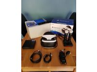 PSVR headset bundle for sale in very good condition