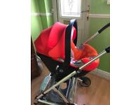 BRIGHT AND BEAUTIFUL CYBEX CARSEAT AND ISOFIX BASE WITH COVER £50!!!