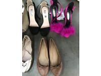 5 heels / 3 flats - size 3/4 £5 for the lot