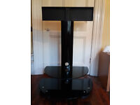 A black metal and glass TV stand for sale for LCD/LED TV 32 - 37inch