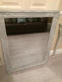 Bevelled glass shabby chic mirror