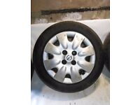 Nissan Micra 4x100 14'' wheels SPARE WHEEL covers and tyres