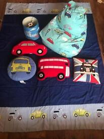 Boys transport bedroom bundle (Next, Dunelm)