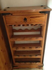 Solid Mexican pine wine rack £40 ono