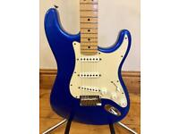 2004 Fender American Standard '50th Anniversary' Stratocaster Guitar – Chrome Blue/Maple