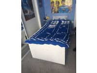 Kids single cabin bed with storage drawers and shelf