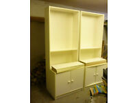 IKEA Billy bookcase in white with two door extension
