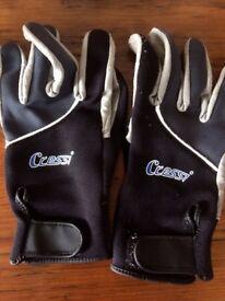 Cressi dive gloves - large size