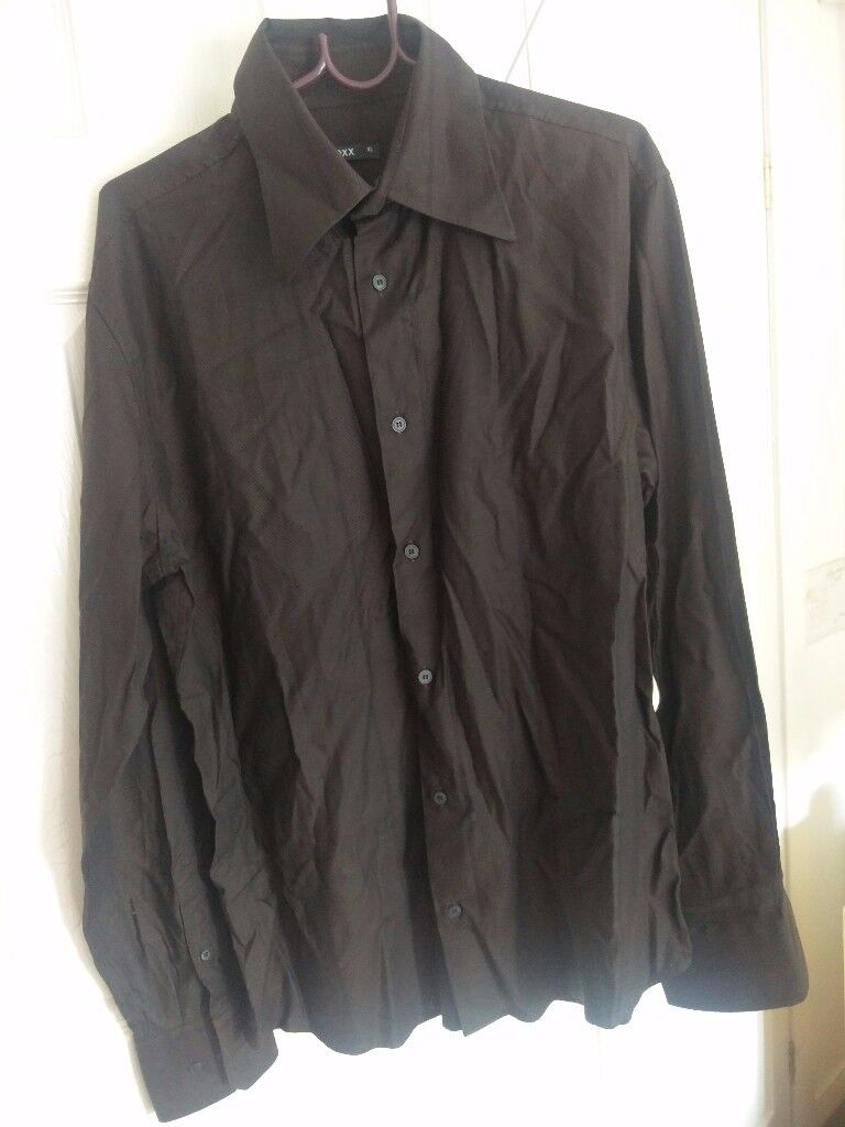 2 x USED MEXX dark long sleeve shirt XL - £7.99 each formal casual black brown