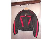 MILANO SPORT BLACK/RED TEXTILE MOTORCYCLE JACKET (161)