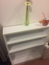 White kids' book or toy shelf, used but still in good condition, for pick-up