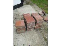 Old clay floor tiles 15 X 15 cm