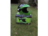 Green moto child bike