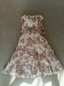 Coast dress vintage look with matching bag size 8
