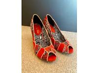 Red Ruby Shoo Matilda heels size 4 Brand New without Box