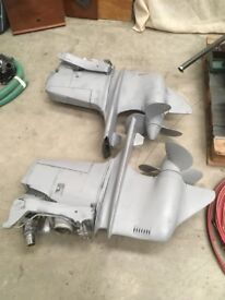 2 Volvo penta AQD 21 Diesel engines, complete with out drives, all controls, instruments, looms etc.