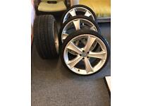 "19"" volkswagen wheels with tyres,very good condition,5x100"